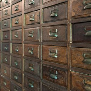 Traditional herbal medicine wooden cabinet